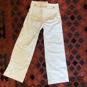 Ralph Lauren RRL  White Wide Leg Sailor Pants 28